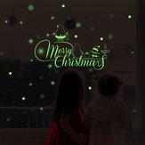 Miico HM31009 Adesivo murale natalizio per decorazioni per la stanza Luminoso Modello Adesivo decorativo di sfondo rimovibile