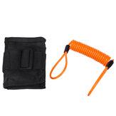 2 m / 6ft Erinnerungskabel Orange + Alarmverriegelungstasche für Motorrad