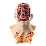 Halloween Zombie Mask Latex Face Melting Walking Dead Bloody Scary Head Costume