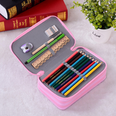 72 Holes Penal Pencil Case Sketching Color Pencil Bag Large Capacity for Childrens Pen Bag Stationery Pouch Storage Supplies