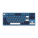 AKKO 3087SP Ocean Star 87 Key NKRO Type-C Wired Cherry MX Schakelaar PBT Keycaps Mechanisch gamingtoetsenbord voor pc-laptop