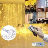 3M*3M Outdoor USB 8 Modes 300LED Curtain String Light Fairy Christmas Wedding Lamp Festival Holiday Decor