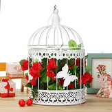 Wishing Well Bird Cage Wedding White Birdcage Cards Round Box Decorations Ornaments