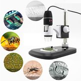 1600X 8 LED Zoom USB Microscopio digital Lupa Microscopio Cámara + Soporte de video