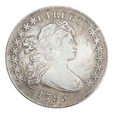 Flowing Hair Half Dollar Coin United States Of Liberty American Coins USA 1795 Decorations