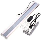 28-75cm 7500K 12/14 / 24W LED Aquarium Licht Pflanze Aquarium Bar Tauch