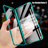Bakeey 360º Curved Screen Front+Back Double-sided Full Body 9H Tempered Glass Metal Magnetic Adsorption Flip Protective Case for Xiaomi Redmi Note 8