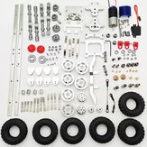 WPL 1/16 Upgraded Metal RC Car Chassis Unassembled Kit for Military Truck Vehicles DIY Parts