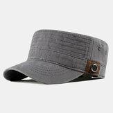 Мужские мытые хлопковые плоские шляпы На открытом воздухе Солнцезащитный крем Военный Армейская кепка для папы с острым носком