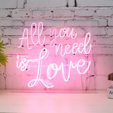 All You Need Is Love Neon Sign For Bedroom Wall Decor Artwork With Dimmer Decorations