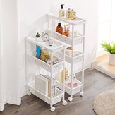 Kitchen Bathroom Multi-Layer Racks Quilted Storage Rack Living Room Hollow Slitting Rack