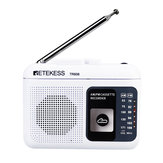 Retekess TR-606 FM AM Portable Radio with Cassette Playback Voice Recorder