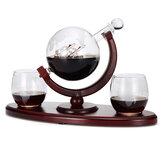 Kit de carafe de bouteille de carafe en verre 850ml avec 2 tasses à boire pour le thé Spirit