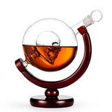 Elegancka czaszka Whisky Szklana karafka Globe Liquor Butelka do picia Szklany kubek