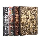 منزل هدية مجلة بو غطاء منصات الكتابة غلاف السفر الرجعية تنقش دفتر يوميات مدرسة الحرفية