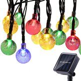 5M Outdoor Solar Powered 20 LED Bulb String Light Garden Holiday Wedding lamp Christmas Tree Decorations Lights