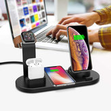 DCAE 4in1 10W/7.5W/5W 3A Qi Wireless Charger Dock Stand for Samsung S10+ For iPhone 11 X XS XR 8 for Apple Watch 5 4 3 2 Airpods HUAWEI LG