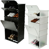DIY Interlocking Boots Cabinets Shoe Storage Racks Cube Clothing Stand Organizer