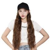 Wanita Gadis Bebek Lidah Cap Wig Hat Cahaya Panjang Halloween Bagian