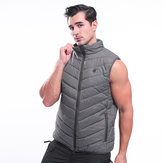 Electric Waistcoat Heated Cloth Jacket USB Thermal Warm Heated Coats Pad Body Warmer Gray
