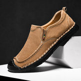 Men Casual Leather Soft Sole Flats