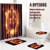 Halloween Shower Curtain Toilet Soft Velvet Non-slip Kitchen Mat Type 2