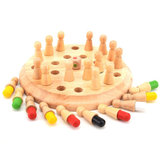 Wooden Memory Match Chess Game Clip Beads Toys Montessori Educational Toys for Children