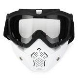 Óculos de proteção para motocicleta Destacável Modular Shield Face ATV MX Racing Motocross Máscara