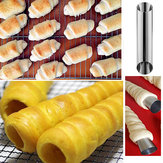 Stainless Steel Cylinder Shape Mold Croissant Roll Bread Baking Tool