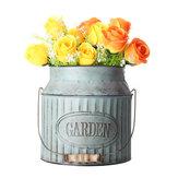 Garden Milk Churn Jarrón vendimia Shabby Chic Flower Pot Planter Mesa Decoración