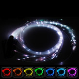 Batterij aangedreven LED Sparkle Whip Strip Light 360 ° draaibaar RGB Multi-Mode zaklamp Show Dance Music Festival
