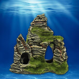 Mountain View Acuario Rock Cave Stone Tree Bridge Adornos de adornos para tanques