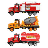 Baby Kids Fire Tanker Truck Construction Agitating Lorry Vehicle Cars Model Toys for Kids Children Toddlers Boys Gift
