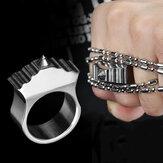 EDC Survival Protection Ring Finger Osobisty stal wolframowa Attack Naszyjnik taktyczny Breaker na zewnątrz Survival Hunting Gear