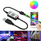 0,5 m 2 m 3 m 5 m 5050 Waterdichte Bluetooth APP Controle RGB USB LED Strip Licht Outdoor KTV Hotel Home Decor