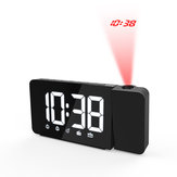 Digital LED Alarm Clock Time Projection Snooze FM Radio Adjustable Brightness