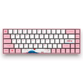 AKKO 3068 World Tour - Tokio 68 klawiszy Mechaniczna klawiatura do gier bluetooth 3.0 USB the Sublimation Cherry MX Przełącznik PBT Keycaps Gaming Keyboard