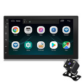 7 Inch 2 Din Android 8.1 Car Stereo Radio Auto MP5 MP3 Player 4 Core 1+16G Touch Screen GPS Wifi bluetooth FM With Rearview Camera