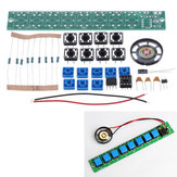 5pcs DIY Electronic Kit Set NE555 Keyboard Kit Eight Notes DIY Electronic Production Parts SolderingPractice Fun Training