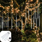 AC110-240V 50CM Waterproof IP65 180LED Meteor Shower Rain 5 Tubes String Light Holiday Party Christmas Outdoor Decor