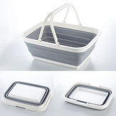 Portale Folding Basket Fruit Vegetable Basin Bowl Dishes Drain Busket Clothes Foldable Storage Washing Basket