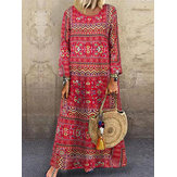 Printed Floral Ethnic Baggy Loose Long Maxi Dress