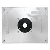 Enrutador de mesa de aluminio Placa 235 mm x 300 mm x 8 mm para bancos de trabajo de madera