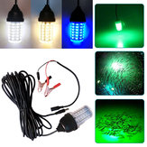 DC12-24V Underwater LED Deep Drop Lure Flash Fish Lamp IP68 with DC Cable Line for Aquarium Fishing Tank