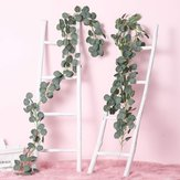 2M Artificial Plants Greenery Garland Faux Silk Vines Wreath Wedding Wall Leaves Decor Supplies