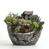 Argile Sky Jardin Succulent Planteur Pots De Fleurs Cactus Mousse Bonsaï Plante Pot Panier Boîte