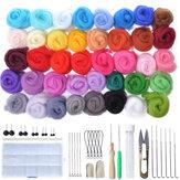 40 Kleur Soft Wolvilt Mat Starters DIY Breien Craft Viltnaald Gereedschapset Naaigereedschap