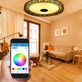 LED RGB luz de teto bluetooth lâmpada de som APP Controle Remoto 100-240V