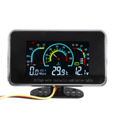 3 In 1 LCD Voltmetro digitale per auto Olio Manometro temperatura acqua 12-24V