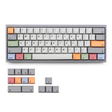 KBDfans 75 Keys Grey&White&Color Keycap Set XDA Profile Sublimation PBT Keycaps for 61/64/68 Keys Mechanical Keyboards